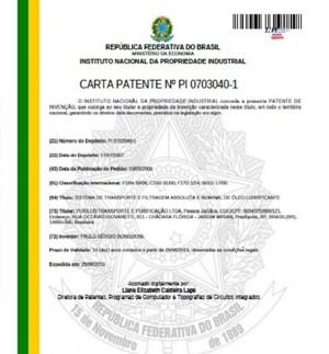 Processo de Filtragem Inovador da Purilub é aprovado e PATENTEADO pelo INPI