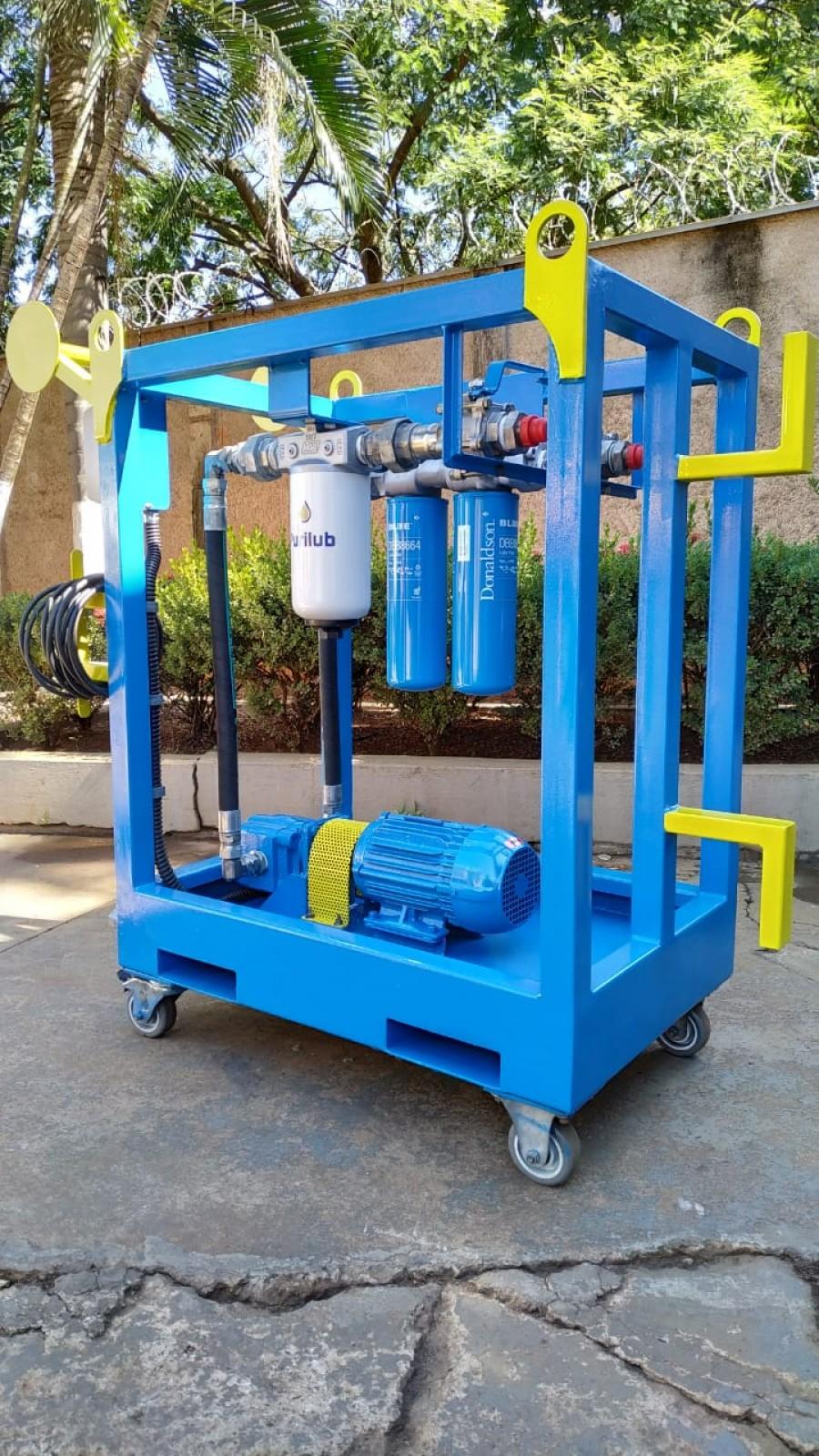 Sistema de filtragem para óleo isolante